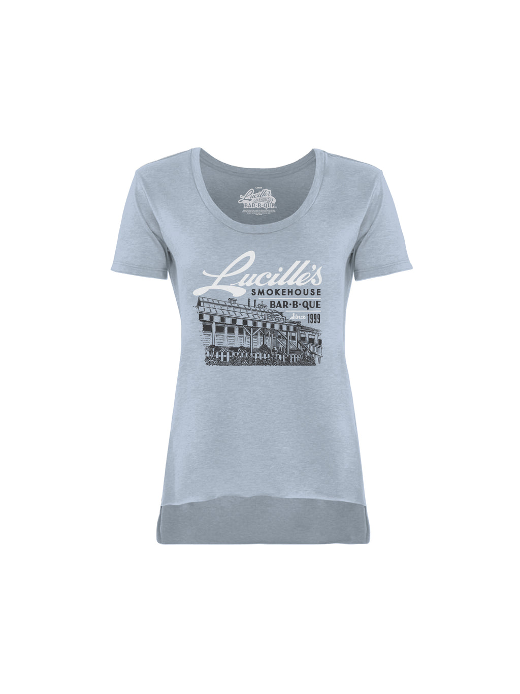 ILLUSTRATION WOMEN TEE (STONEWASH DENIM)