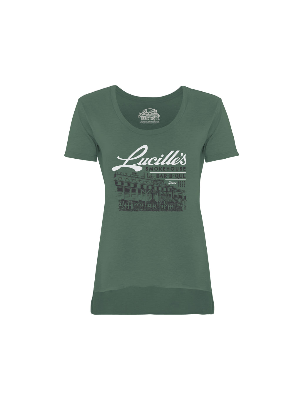ILLUSTRATION WOMEN TEE- (GREEN)