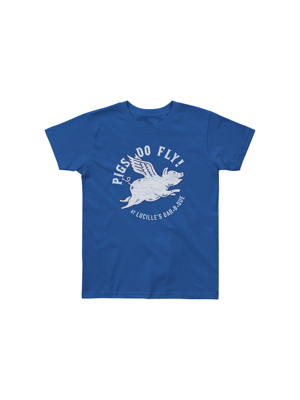 PIGS DO FLY YOUTH TSHIRT (ROYAL BLUE) - Anderson Bros Design and Supply