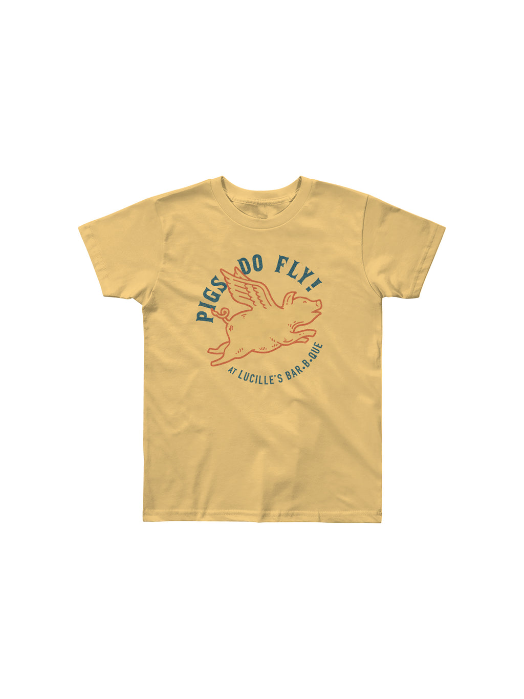 PIGS DO FLY YOUTH TSHIRT (BANANA CREAM) - Anderson Bros Design and Supply