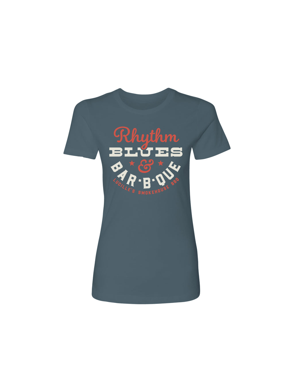 RYTHM BLUES WOMEN TEE (INDIGO HEATHER)