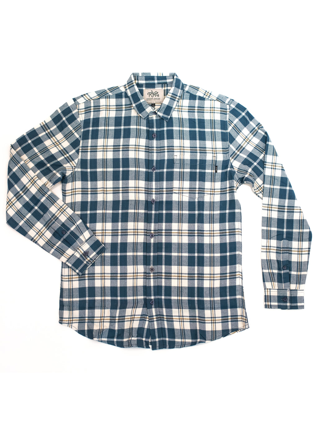 ABDS FLANNEL BLUE/WHITE - Anderson Bros Design and Supply