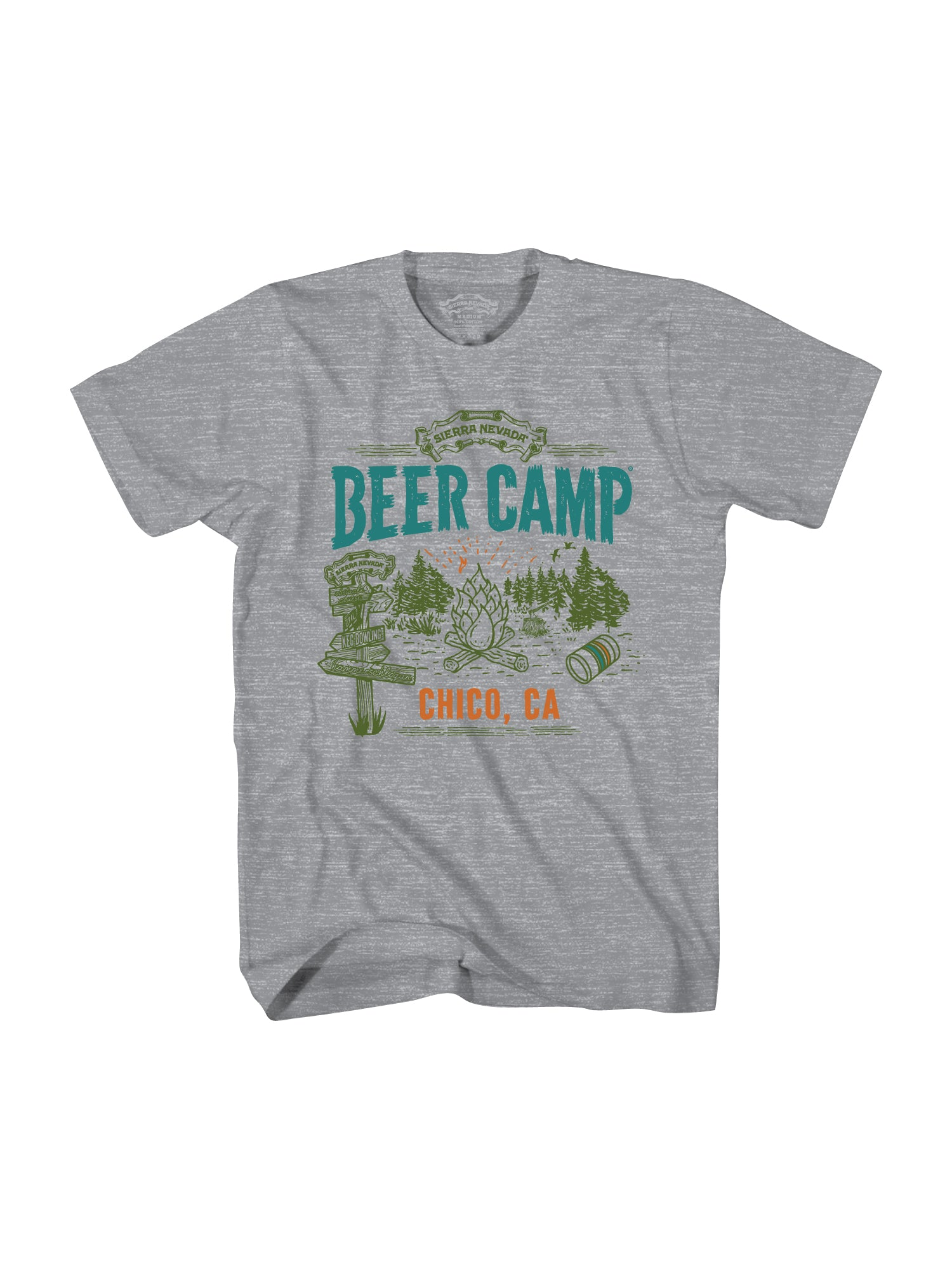 BEER CAMP S/S TSHIRT- HEATHER GREY - Anderson Bros Design and Supply