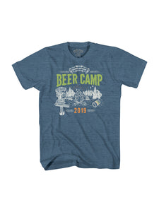 BEER CAMP S/S TSHIRT- HEATHER BLUE