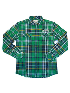 Sierra Nevada Flannel- Green/Blue - Anderson Bros Design and Supply