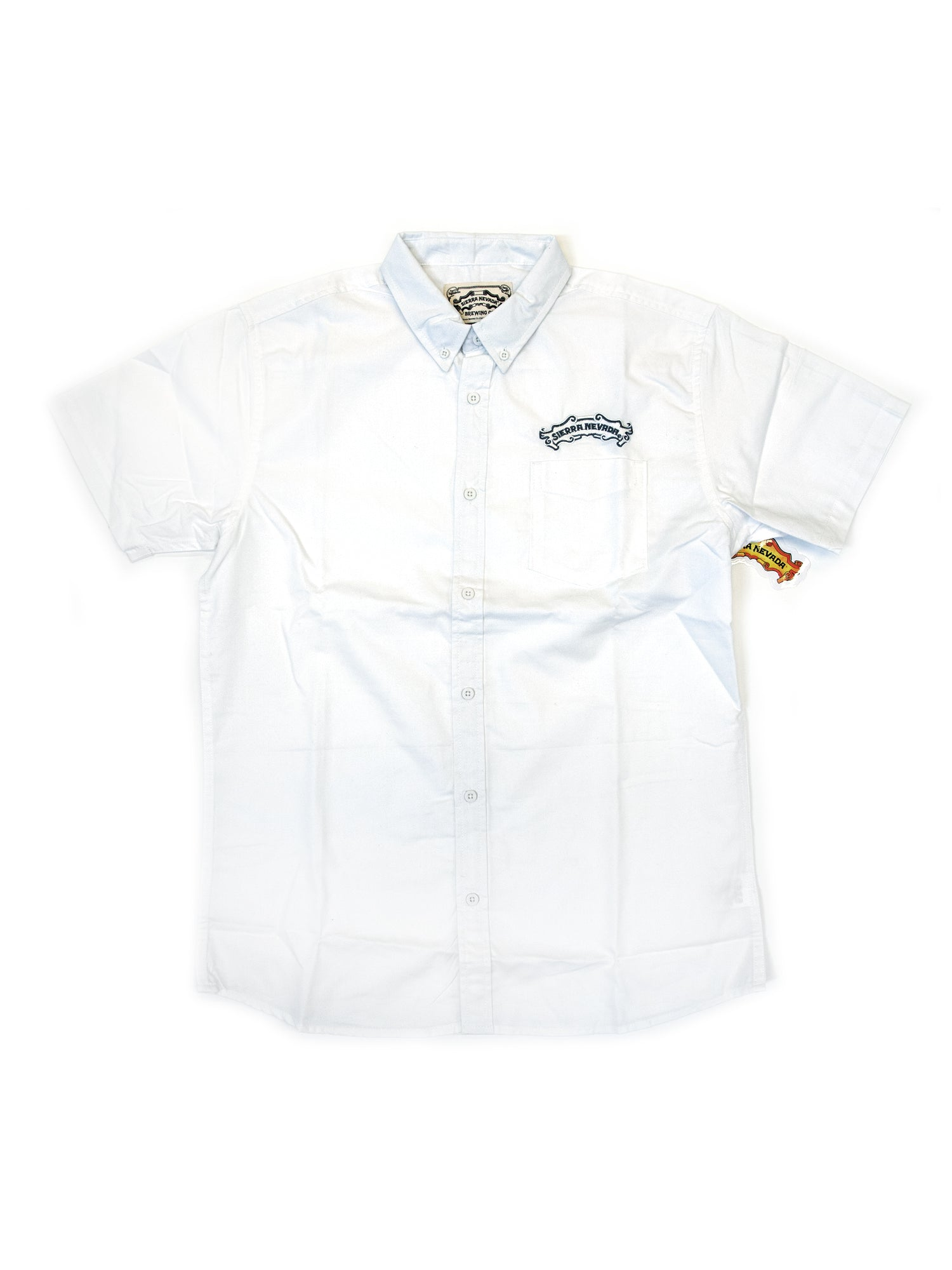Short Sleeve Button Down- White