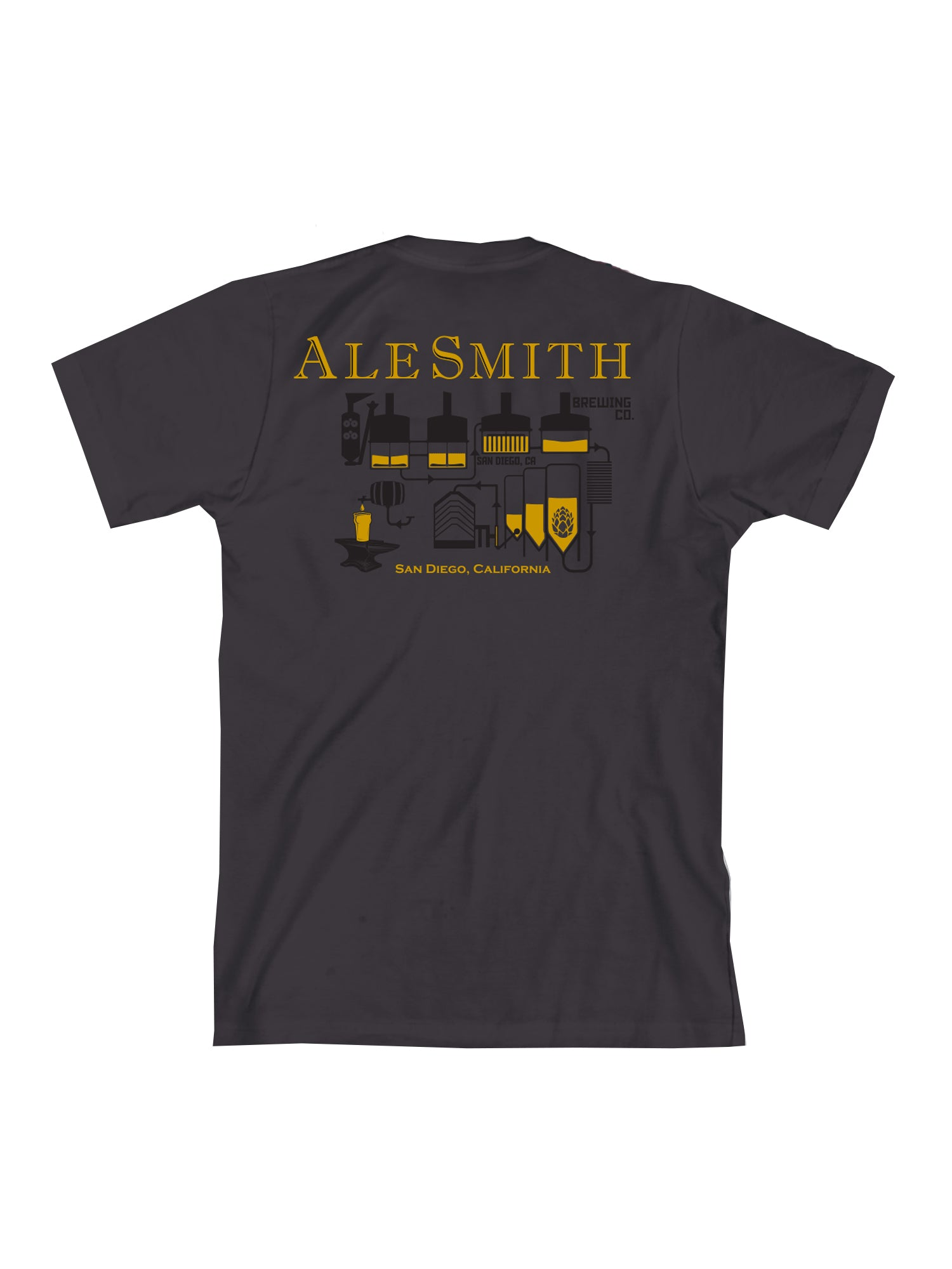 Ale Smith Brew House Tee Shirt- Charcoal