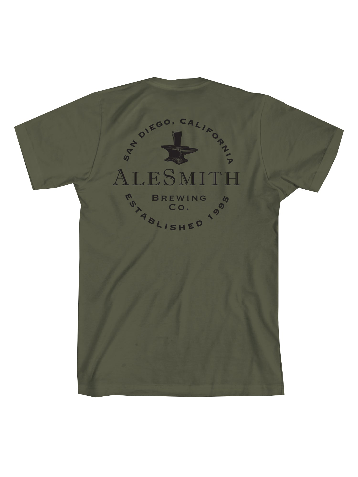 Ale Smith Traditional Tee Shirt- Army