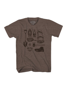BIGFOOT S/S TSHIRT- BROWN