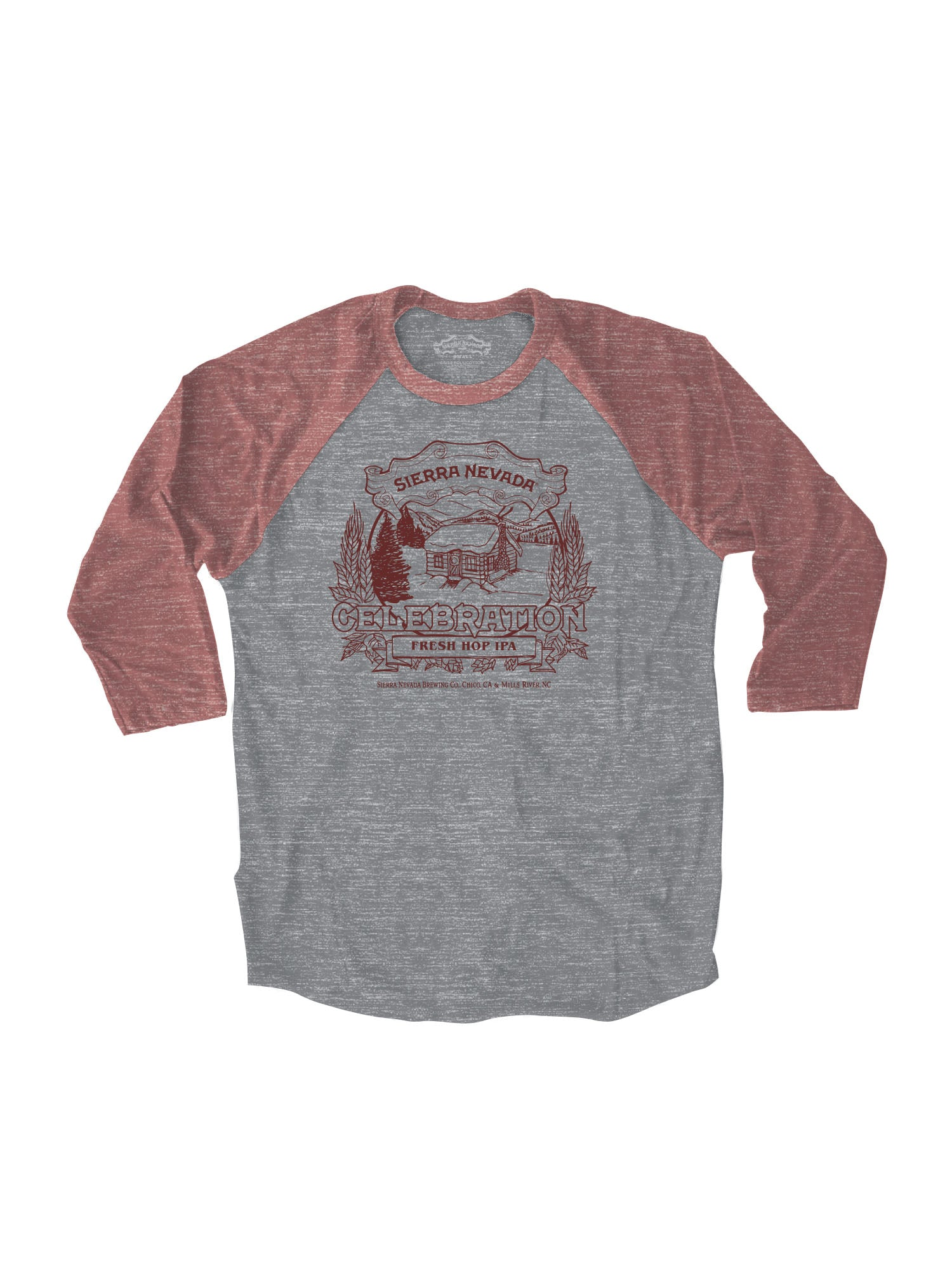 CELEBRATION RAGLAN- HEATHER RED
