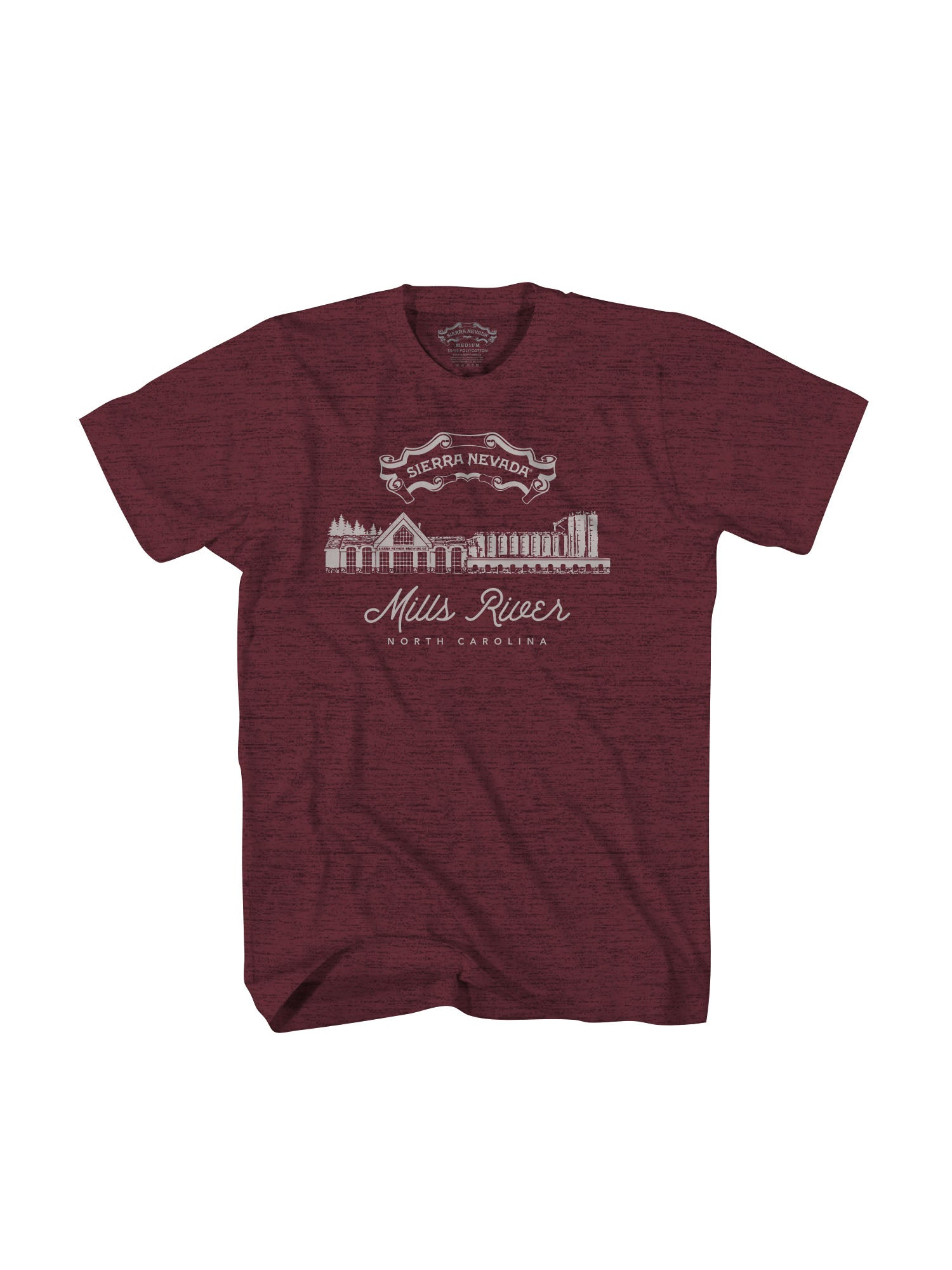 MILLS S/S TSHIRT- MAROON - Anderson Bros Design and Supply