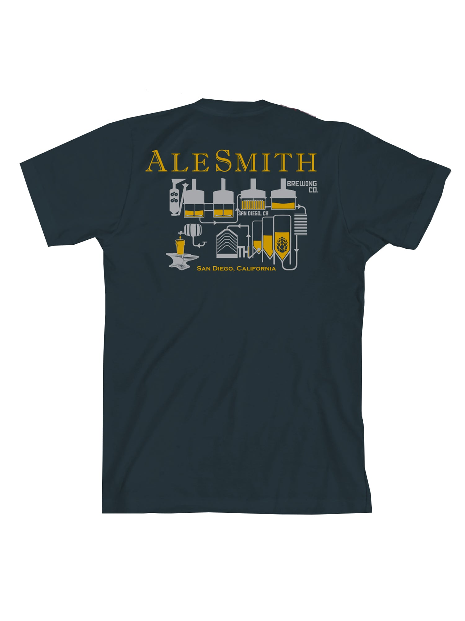 Ale Smith Brew House Tee Shirt- Navy