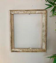 Load image into Gallery viewer, 12X24 Lobster Trap Frame, Reclaimed Wood, Rustic Picture Frame, Beach Style Photo Frame, Distressed Frame, Picture Frame Wood