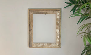 4X6 Lobster Trap Frame, Reclaimed Wood, Rustic Picture Frame, Beachy Style Photo Frame, Distressed Frame, Picture Frame Wood