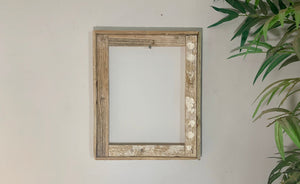 8X12 Lobster Trap Frame, Reclaimed Wood, Rustic Picture Frame, Beach Style Photo Frame, Distressed Frame, Picture Frame Wood