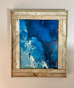 24X24 Lobster Trap Frame, Reclaimed Wood, Rustic Picture Frame, Beach Style Photo Frame, Distressed Frame, Picture Frame Wood