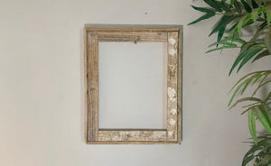 5x7 Custom Lobster Trap Picture Frame. Beach Art, Great to ad a rustic feel.to your office or living space. Made with real Lobster Trap