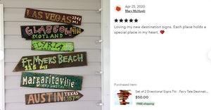 GIFT IDEA ALERT! Directional Destination Tiki Bar Pool Signs. Free Shipping ends 06/31