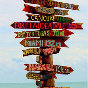 Perfect Gift! Tiki Bar Directional Destination Signs.