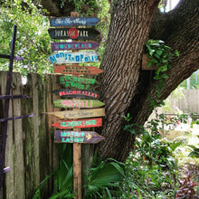 Load image into Gallery viewer, HOT New GIFT Item! Choose from 20 Fairy Tale Directional Destination Nursery Tiki Signs . Reading Nook . Harry Potter, Narnia, Neverland