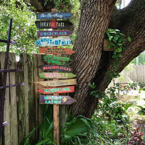 HOT New GIFT Item! Choose from 20 Fairy Tale Directional Destination Nursery Tiki Signs . Reading Nook . Harry Potter, Narnia, Neverland