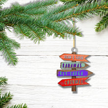 Load image into Gallery viewer, CHRISTMAS GIFT IDEA! Jimmy Buffet Christmas Ornament Margaritaville Directional Destination Signs.