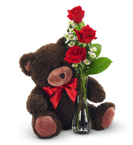 Roses and Teddy From$39.99--$49.99