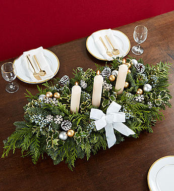 Magnificent Holiday White Centerpiece