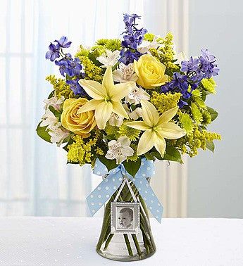 Sweet Baby Boy Arrangement The Flower Kottage