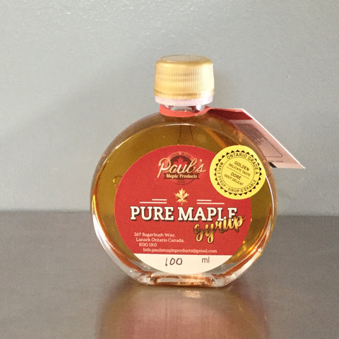 100ml Glass Medallion - Maple Syrup
