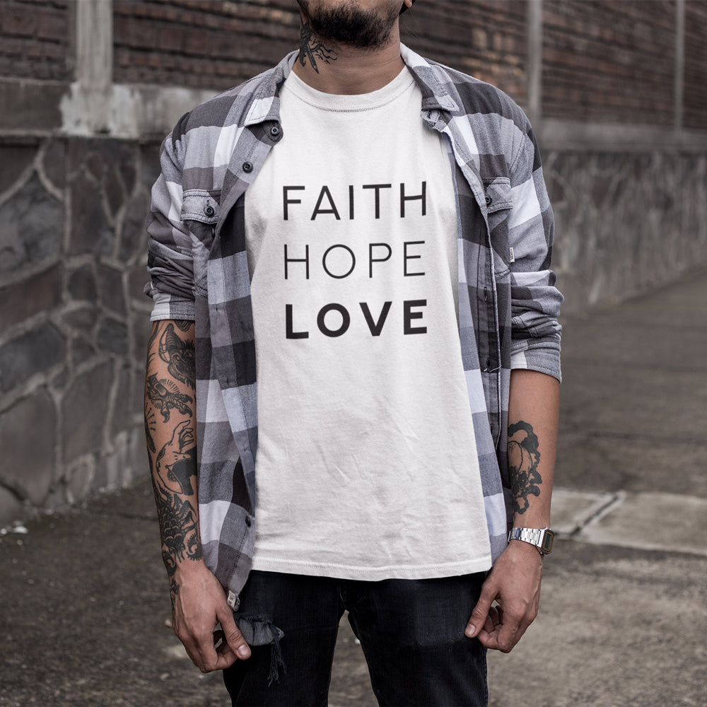 Faith Hope Love Original - Christian Inspired T-Shirt, Hoodies, Long Sleeve Gifts and Apparel