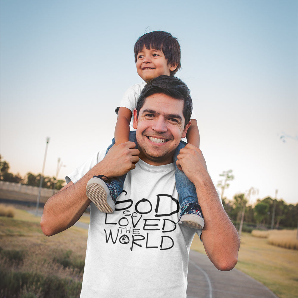 God So Loved The World - Christian Inspired T-Shirt, Hoodies, Long Sleeve Gifts and Apparel