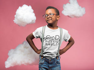 God So Loved the World T-Shirt / To Live Like Jesus Clothing Company Inspirational Christian Apparel
