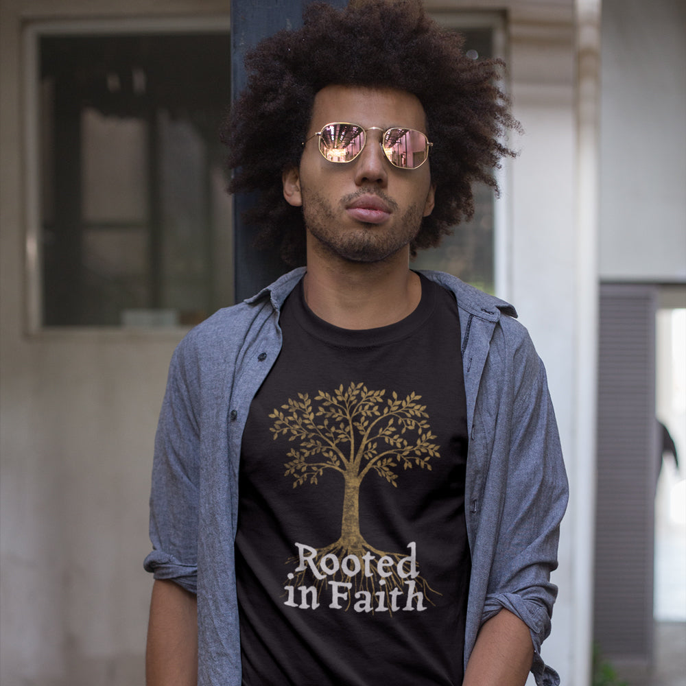 Rooted In Faith Classic - Christian Inspired T-Shirt, Hoodies, Long Sleeve Gifts and Apparel
