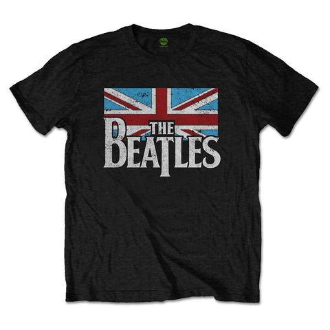 The Beatles Vintage Flag Logo Official T-Shirt