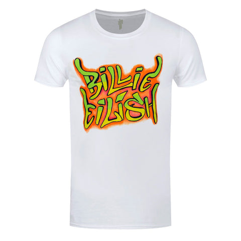 Billie Eilish Graffiti Official White T-Shirt