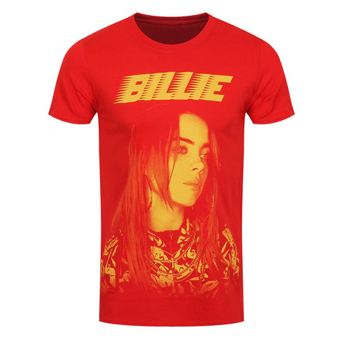 Billie Eilish Jumbo Racer Official Red T-Shirt