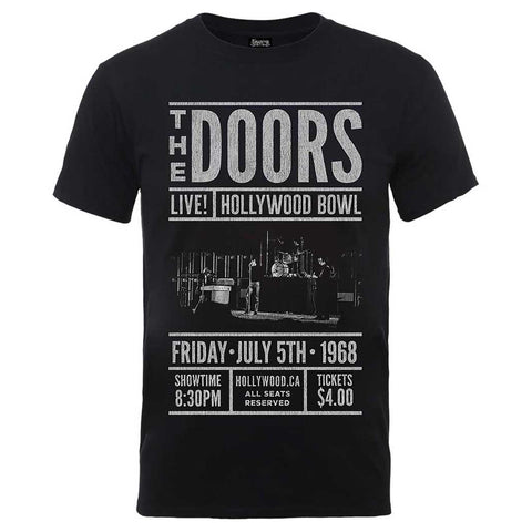 The Doors Advance Final Hollywood Bowl Official T-Shirt