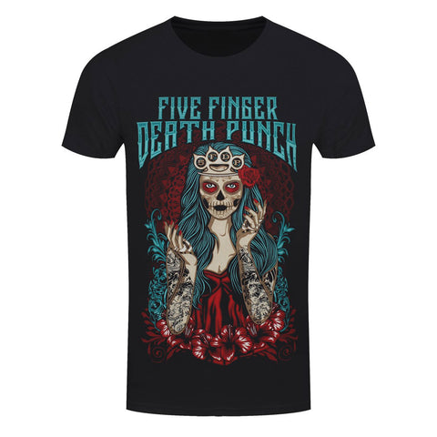 Five Finger Death Punch Lady Muerta Official T-Shirt