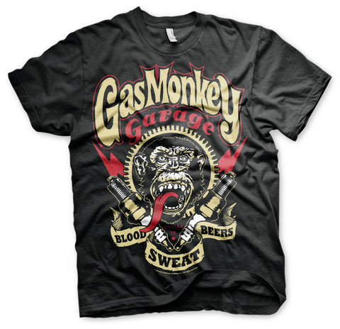 Gas Monkey Garage Blood Sweat And Beers Official T-Shirt