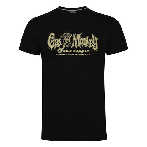 Gas Monkey Garage Logo Distressed Official Black T-Shirt