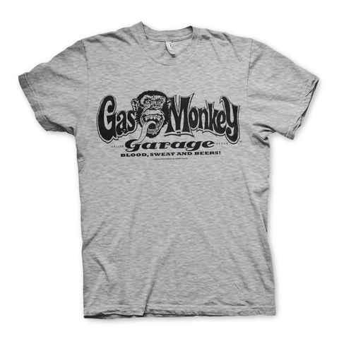 Gas Monkey Garage Logo Official Grey T-Shirt