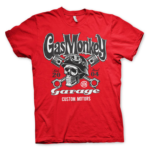 Gas Monkey Garage Skull Official Red T-Shirt