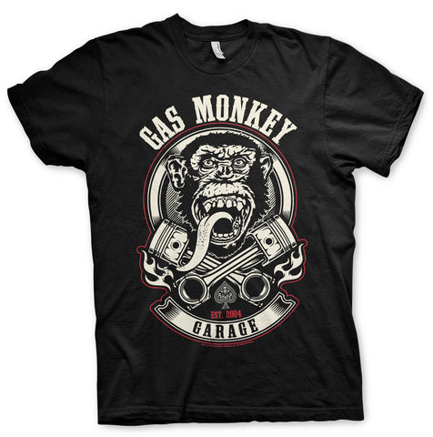 Gas Monkey Garage Pistons & Flames Official T-Shirt