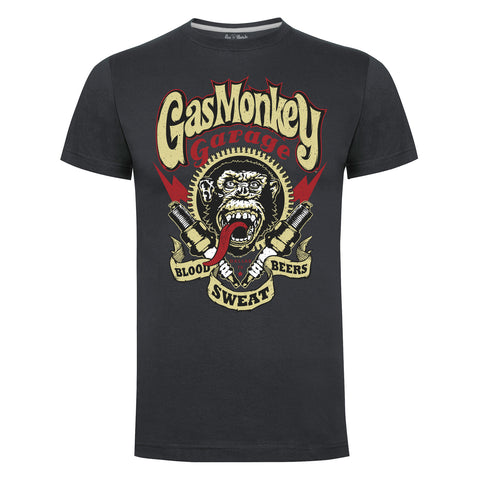 Gas Monkey Garage Spark Plugs Charcoal T-Shirt