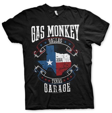 Gas Monkey Garage Texas Flag Official T-Shirt