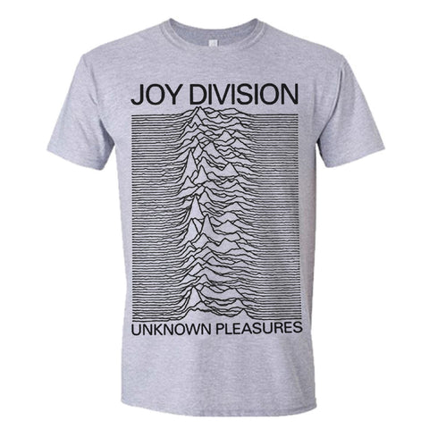 Joy Division Unknown Pleasures Official Grey T-Shirt
