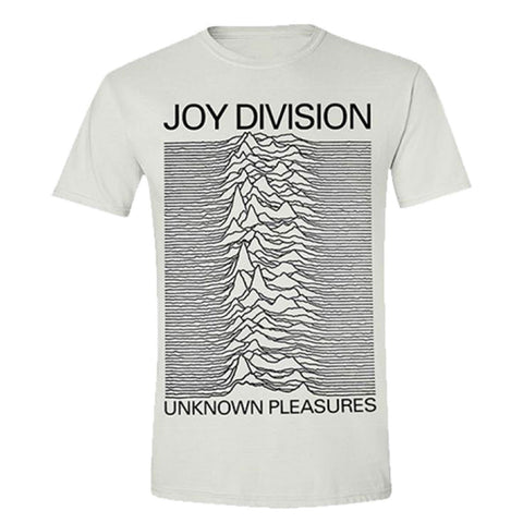 Joy Division Unknown Pleasures Official White T-Shirt