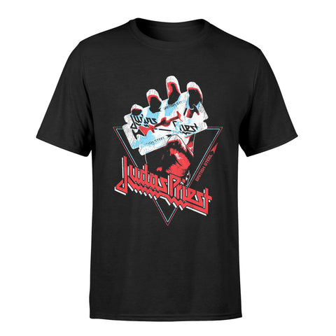 Judas Priest British Steel Hand Official T-Shirt