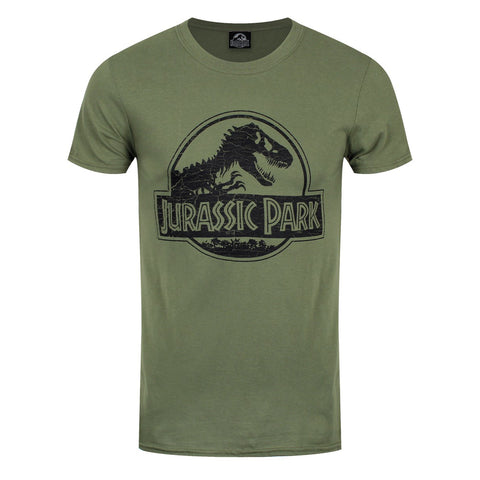 Jurassic Park Logo Official Green T-Shirt